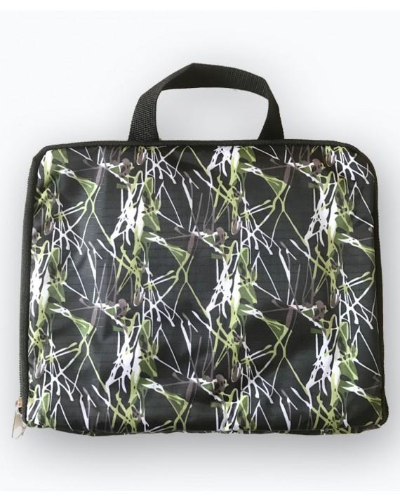 Foldable Bag Pack Waterproof Green Print