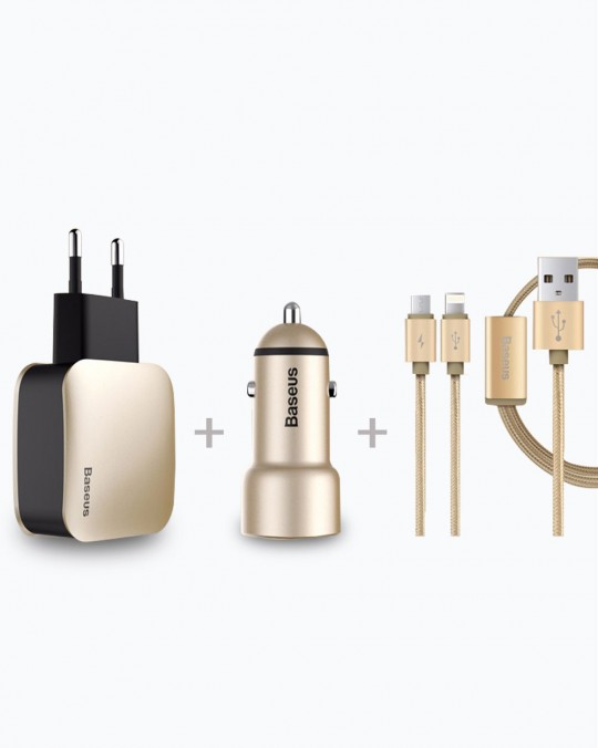 Complete Charging Set 3.4A Gold