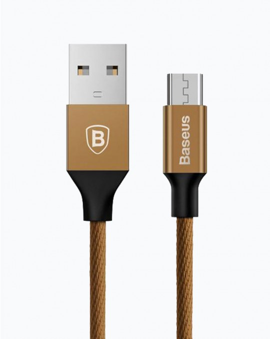 Yiven Charging Cable Micro USB 2A Brown