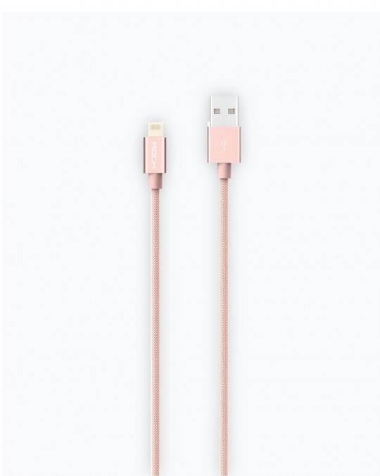 Metal Charge Cable for iPhone/iPad/iPod 2A Pink