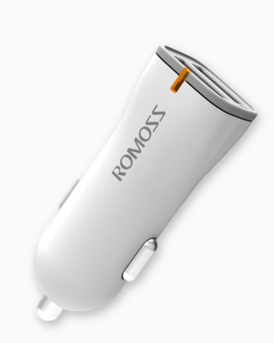 Rocket Power Car Charger 2.4A White