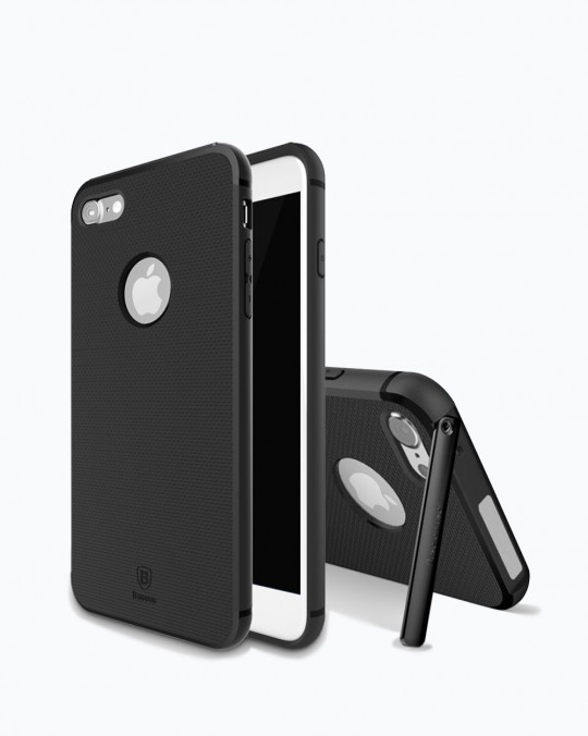 HIDDEN BRACKET CASE WITH STAND iPhone 7+ Black
